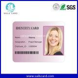 Пластичные визитные карточки Barcode с классицистическим Quanlity