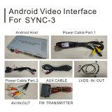 Android 5.1 4.4 навигационного GPS для Ford Explorer Sync3 Video Interface литого стекла