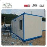 Casa modular del envase del emparedado prefabricado blanco de la estructura de acero para la venta