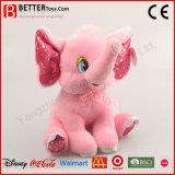 아기 아이를 위한 박제 동물 견면 벨벳 분홍색 코끼리 연약한 장난감