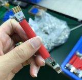 2 en 1 Personnaliser longe le trousseau de recharge USB pour câble de données Andriod, pour Apple de type C