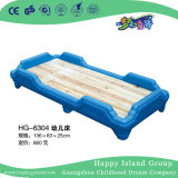 Nuevo Diseño en Madera Natural de la escuela niño cama con el marco de plástico (HG-6304)
