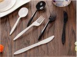 Plastikwegwerfsuppe-Löffel des tischbesteck-PP/PS, Messer, Gabel