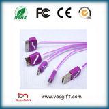 Cabo 4 de HDMI em 1 cabo de dados isolado do cabo do carregador