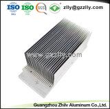 6063 de alta calidad personalizado para la extrusión de aluminio anodizado con disipador de calor y de mecanizado CNC