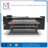 impressora do grande formato de 2m Flatbed e rolo para rolar a impressora de Digitas UV da impressora Inkjet do diodo emissor de luz
