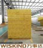 SGS огнеупорные рок шерсть сэндвич для стальных строительных материалов