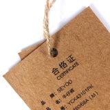 Papel Kraft de alta calidad Hang Tags, Alquiler de Hang Tags