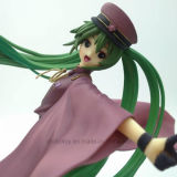 Miku Happy Girl Anime Figura Toy com Base