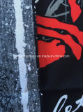 I prodotti della fabbrica della Cina hanno personalizzato la sciarpa di Headwear del nero del cotone della stampa di disegno