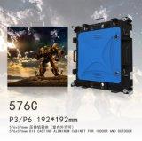 P3屋内576mm x 576mmは鋳造物のAlumiumレンタルLED表示を停止する
