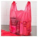 Sacchetto di drogheria del sacchetto della maglietta dell'HDPE
