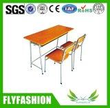 나무로 되는 두 배 학생 Desk&Chair /School 가구 세트 (SF-29D)