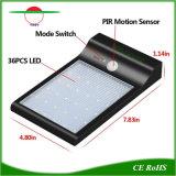 36LEDs impermeabilizzano l'illuminazione solare fioca luminosa esterna del sensore di movimento di illuminazione