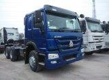 371HP 트랙터 + 3 차축 트레일러 40 톤 반 덤프