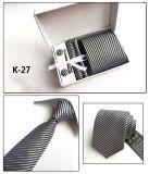 Rectángulo tejido de moda del Pin de lazo de la mancuerna del pañuelo del lazo del poliester de los nuevos hombres del diseño fijado (K26/27/28/29)