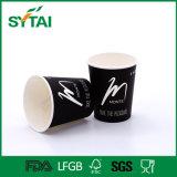 Taza de café de papel de un sólo recinto impresa cubierta el PE modificada para requisitos particulares de la insignia del diseño