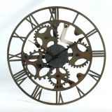 Decorar la flor del arte del reloj de pared de metal