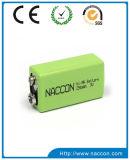 NIMH 9V 280mAhの充電電池