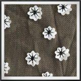 Полиэстер Span сетка кружевной вышивкой в 3D-Flower кружевной вышивкой