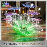 Van de LEIDENE van de vakantie Lichten van Lotus van de Decoratie van de Straat 3D Bloem van het Motief Openlucht
