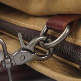 キャンバスファブリック男女兼用の洗浄されたハンド・バッグの方法革は整えるキャンバスのラップトップ袋(RS-8571D)を