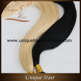 De in het groot Europese Dubbel Getrokken Uitbreidingen van het Haar van de Keratine Remy