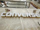 Construção de logotipo de identificação para pontos de Negócios 3D letras tridimensional