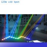 Luz principal móvil 120W LED de la colada del punto del LED