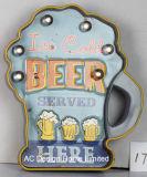 """Decoração Vintage Antique Emboss """"Cerveja Gelado Design da estrutura de metal e plástico Decoração de parede W/Luz de LED"""