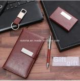 Insieme su ordinazione del regalo della penna della catena chiave del supporto di scheda del taccuino di corsa del cuoio di affari degli elementi del regalo dell'ufficio corporativo di marchio