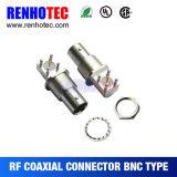 Connecteur à angle droit femelle à haute fréquence de support de panneau de la gamme BNC