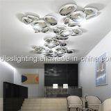 O hotel acrílico da arte do metal contemporâneo projeta a iluminação do teto do diodo emissor de luz