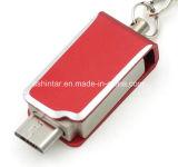 Mini-USB-Stock Thumbdrive Metall-USB-Speicher-Schwenker-Telefon USB-Blitz-Laufwerk