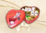 Boîte-cadeau en métal de forme de coeur pour le biscuit de crème de chocolat