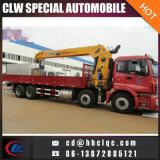 Guindaste do camião do caminhão de Foton Auman 8X4 12ton da manufatura de China
