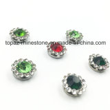 2017 o ajuste da garra da flor do cristal da qualidade nova e superior 7mm Sew na faixa de Strass (o cristal redondo emerald de TP-7mm)