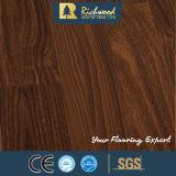 Suelo de madera laminado laminado arce fonoabsorbente del roble de la nuez dura del tablón del vinilo
