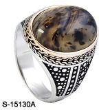 Monili di modo 925 anelli d'argento degli uomini con la pietra