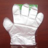 Guante no reutilizable plástico biodegradable que controla médico