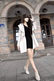 Ladies Overcoat Designs Glengarry Manga comprida Trench Coat Coat Mulher Casaco