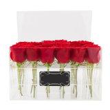 Caixa acrílica da flor da caixa de Rosa do presente do amante