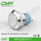 interruptor de tecla momentâneo do aço inoxidável de 22mm
