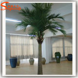 Decoración de interiores falso Mini Planta artificial Coco árbol