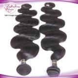 Cheveu humain malaisien de l'Asie de vente en gros d'armure de cheveu de Remy