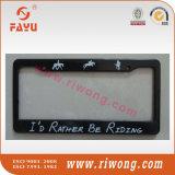Supporto in bianco di plastica della targa di immatricolazione dell'ABS con il marchio su ordinazione di stampa