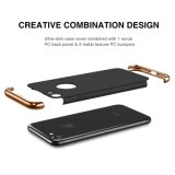 3-en-1 Ultra mince Slim Hard Case Coated Non Slip matte surface électroplate Frame pour iPhone 7