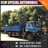 中国の熱い販売のDongfeng 4X2 5-6t Kunckleクレーントラックによって取付けられるクレーン