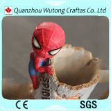 Figura di azione della resina supporto della penna dello Spiderman di Decoraiton della Tabella dell'ufficio del supporto della penna