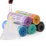 생물 분해성 누출 증거 롤에 플라스틱 쓰레기 봉지